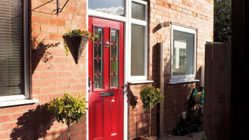 red-composite-front-door